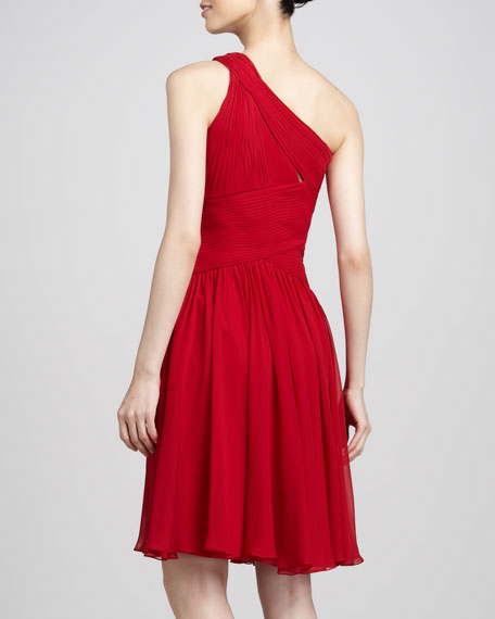One-Shoulder Fit-and-Flare Dress