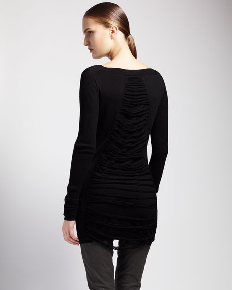 Shred-Back Sweaterdress