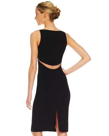 Illusion Cutout-Waist Dress