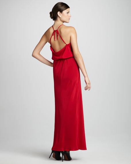 Tie-Back Maxi Dress