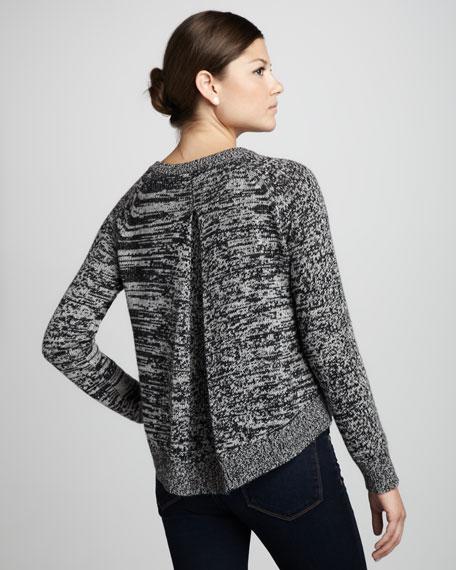 Box-Pleat-Back Sweater