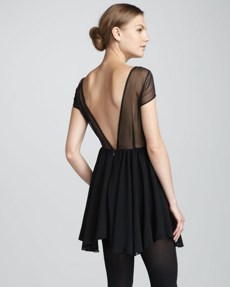 After Dark Sheer-Top Dress