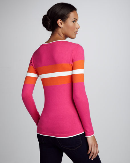 Colorblock Sweater, Pink