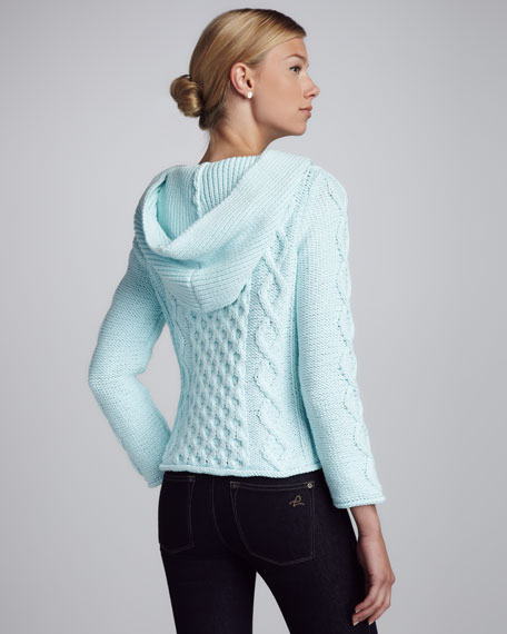 Shawl-Collar Knit Sweater