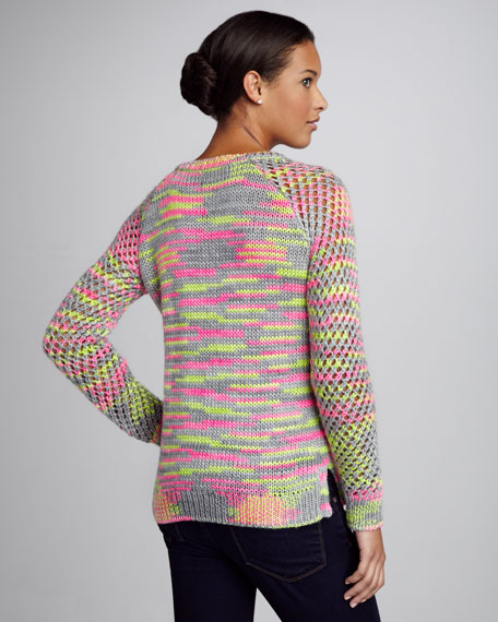 Neon Space-Dye Sweater
