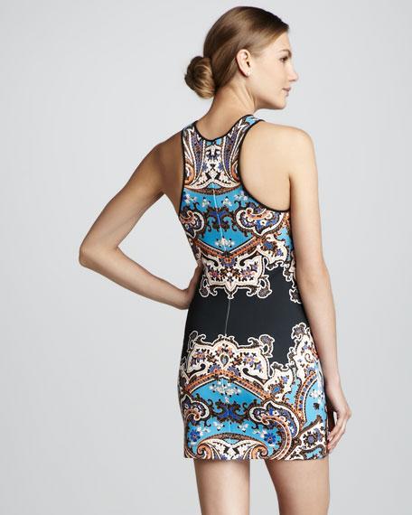 Paisley-Print Sleeveless Dress