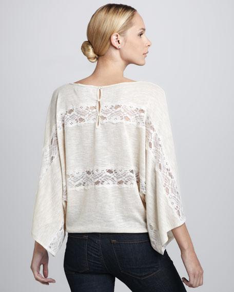 Lace-Stripe Sweater