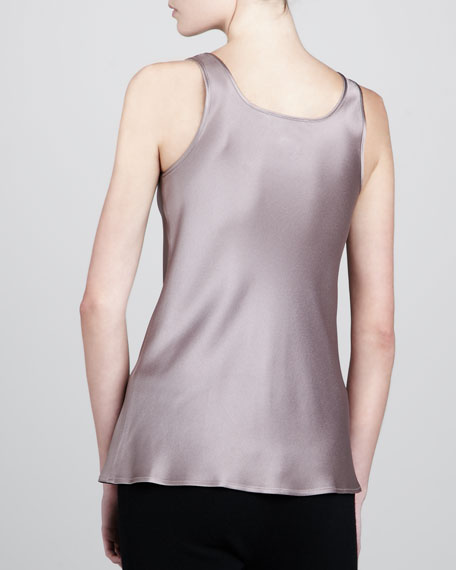 Charmeuse Bias-Cut Tank, Dusk