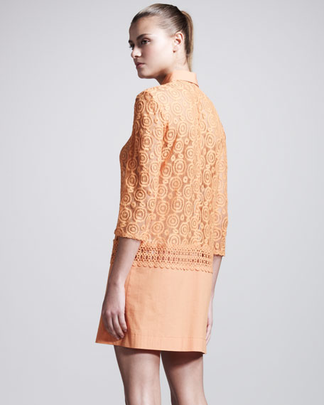 Lace-Top Shirtdress