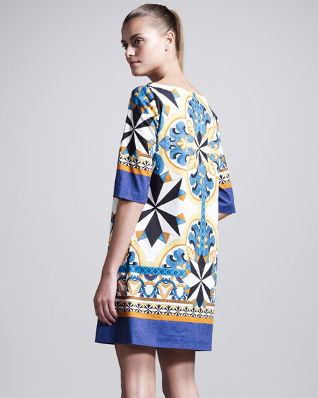 Printed Poplin Tunic Dress