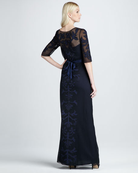 Floria Embroidered Voile Maxi Dress