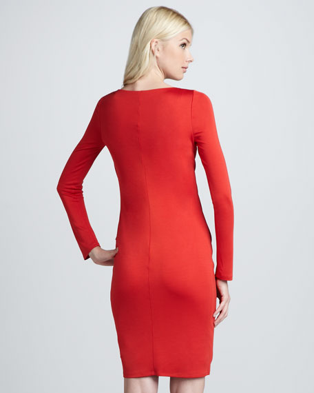 Lucio Twist-Waist Long-Sleeve Dress