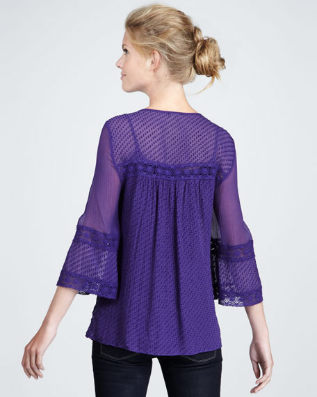 Parisienne Lace-Trim Top