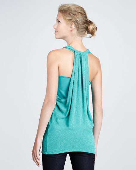 Tinsley Shimmery Draped Tank