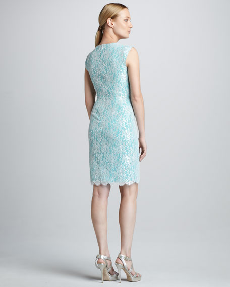 Metallic-Lace Cocktail Dress