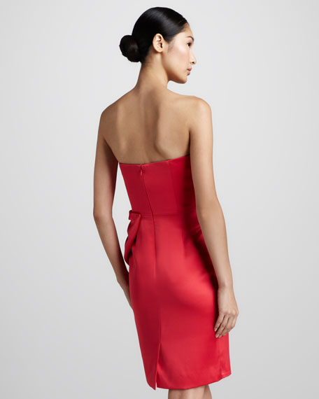 Bow-Front Sweetheart Cocktail Dress