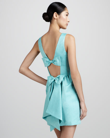 Sleeveless Bow-Detail Dress