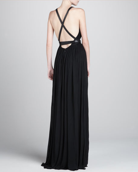 Jersey Belted Gown