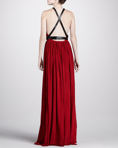 Belted Jersey Gown