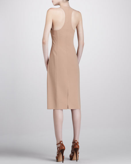 Crepe Racerback Dress
