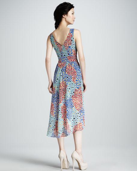 Animal-Print Stretch-Silk Dress