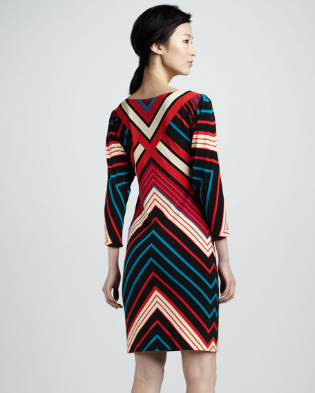 Corinne Chevron Dress