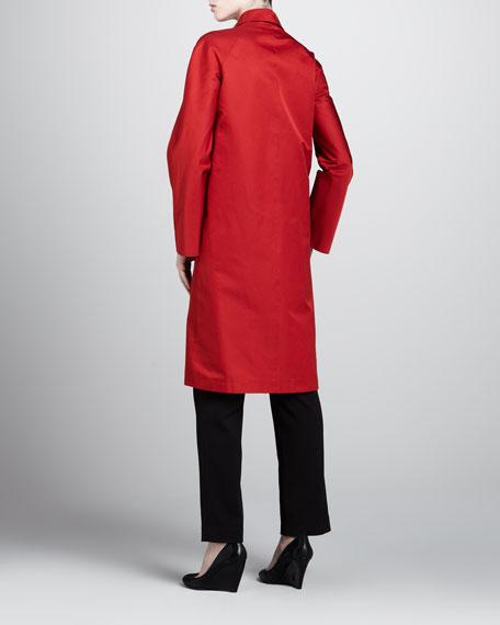 Radizmere Balmacaan Coat, Crimson