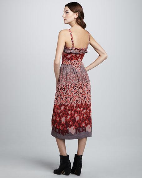 Garden-Print Jersey Dress
