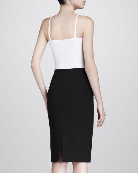 Broadcloth Pencil Skirt