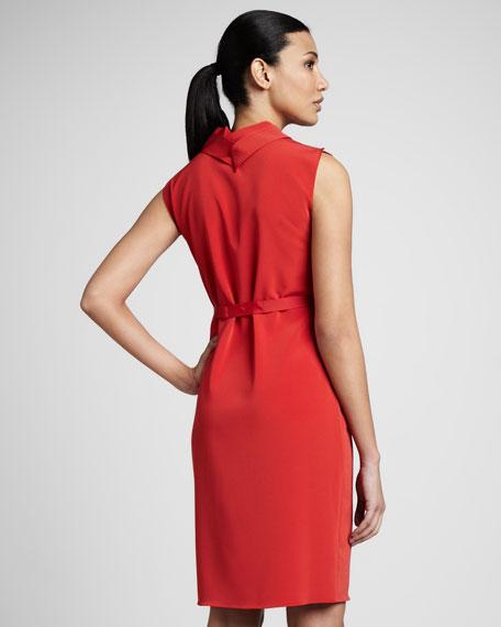 Christa Pleated-Collar Dress