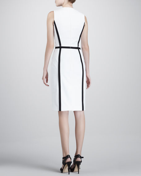 Outlined Crepe Dress