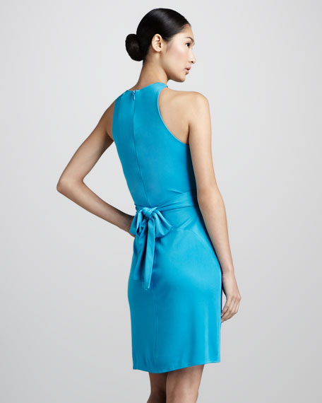 Silk Wrap-Waist Dress