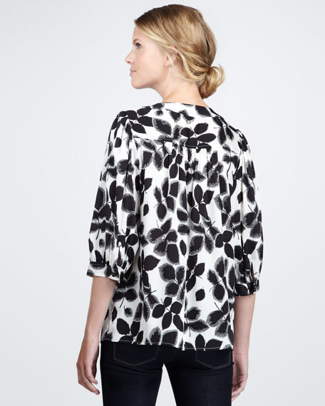 Aimee Three-Quarter-Sleeve Blouse