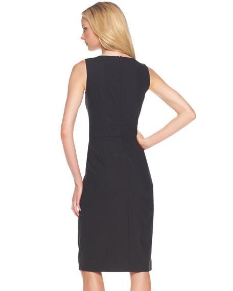 Drape-Front Sheath Dress