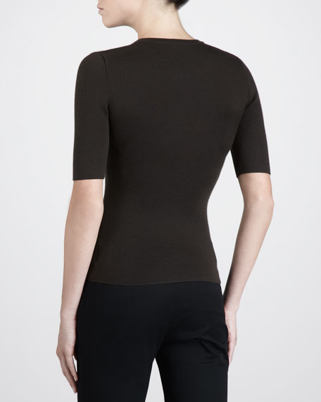 Short-Sleeve Cashmere Henley