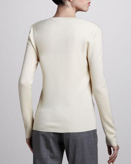Cashmere Cardigan, Ivory