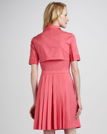 Sensa Pleat-Skirt Shirtdress