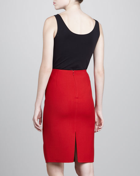 Pencil Skirt, Crimson