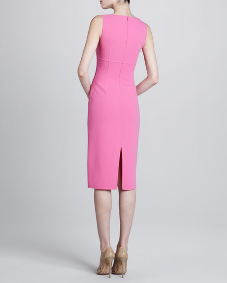 Square-Neck Sheath Dress, Tulip