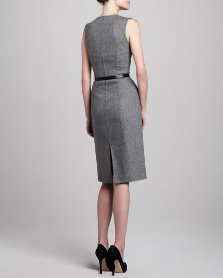 Zip-Front Fitted Dress