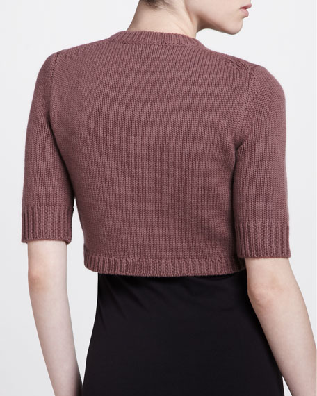Half-Sleeve Shrug, Mauve