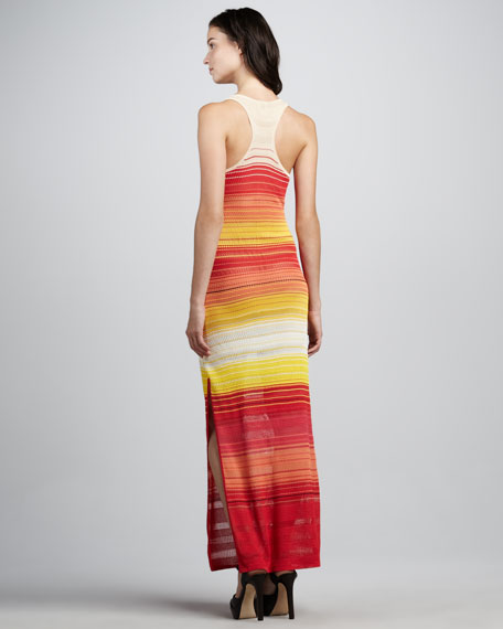 Knit Striped Racerback Maxi Dress