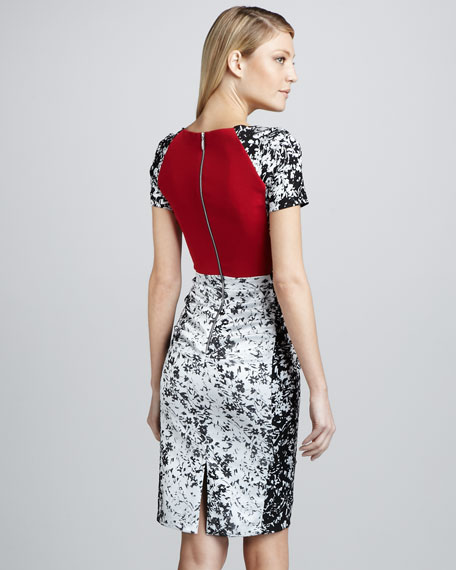 Printed Cocktail Dress