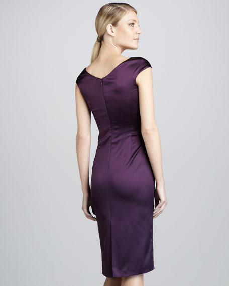 Asymmetric Ruched Cocktail Dress