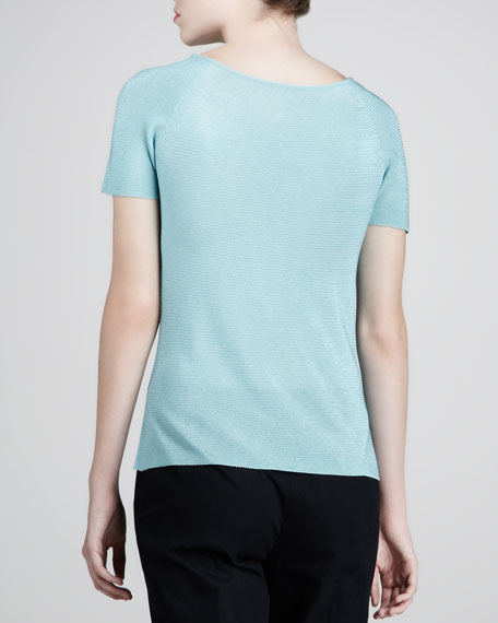 Wave Short-Sleeve Top, Robins Egg