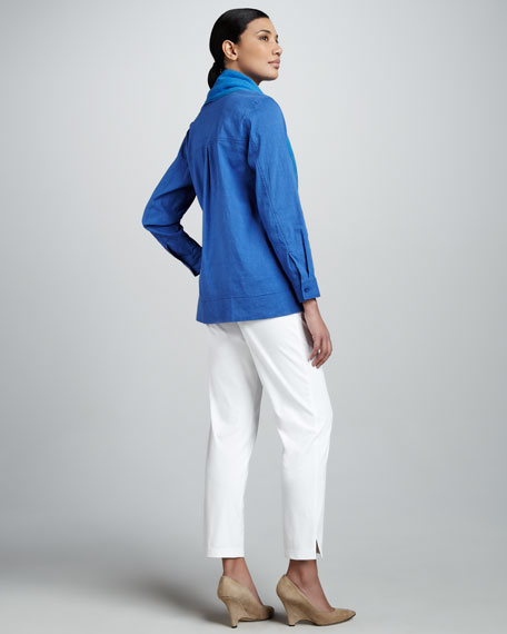 Stretch-Linen Shirt, Women's
