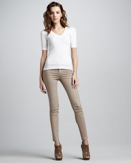 Coated Skinny Jeans