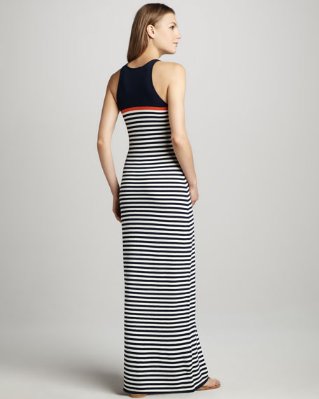 Artmageddon Striped Maxi Dress
