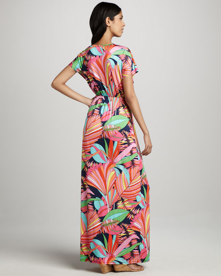 Amrita Palm-Print Maxi Dress