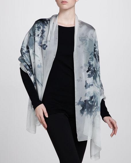 Floral Watercolor Silk Stole